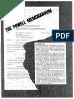 Powell Memorandum Printed