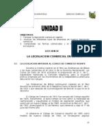 Legislacion Comercial en El Peru