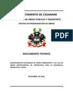 Informe Ejecutivo Mantenimiento Vias