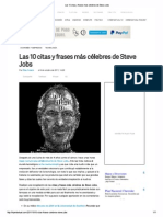 Las 10 Citas y Frases Más Célebres de Steve Jobs