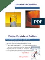 entropia, energia livre e equilibrio