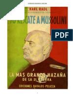 Yo Rescate a Mussolini Karl Radl