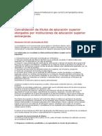 Información Convalidación Homologación de Título en Colombia y Argentina