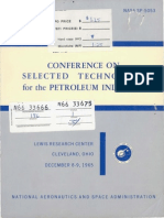 Selected Aerospace Technology Conference for Petroleum Industry Representatives - Combustion, Heat