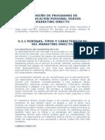 44.3 DISEÑO DE PROGRAMAS DE COMUNICACIÓN PERSONAL VERSUS MARKETING DIRECTO