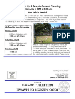 Jodo Mission Bulletin - July 2015