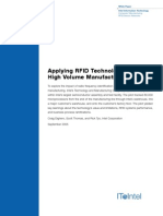 Applying RFID Technology in High Volume Manufacturing