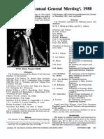 Proceedings, Annual General Meeting 1988