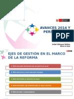 Avances 2014 y Perspectivas 2015 Salud Peru