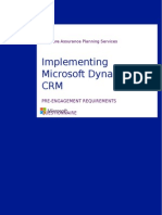 03 Pre-Engagement Requirements Questionnaire CRM