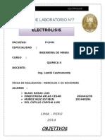 Informe Quimica II Laboratorio 7
