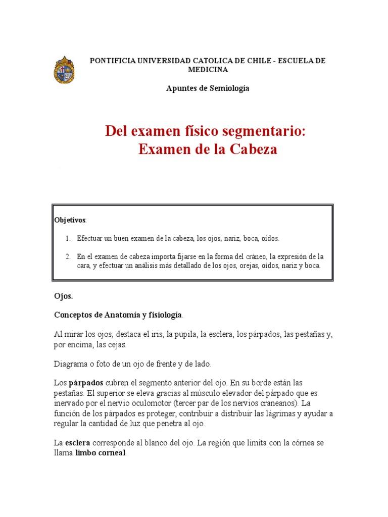 Examen de Cabeza