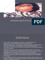 Presentation of Diptheria