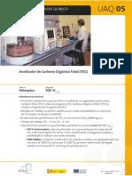 Analizador de Carbon Orgaico Totalshimatzu