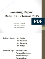Morning Report Ot Tgl 12 Feb 2015