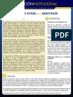 Un Paso Atras en El Arbitraje Posicion Institucional No 51