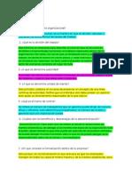 CUESTIONARIO  estructura organizacional