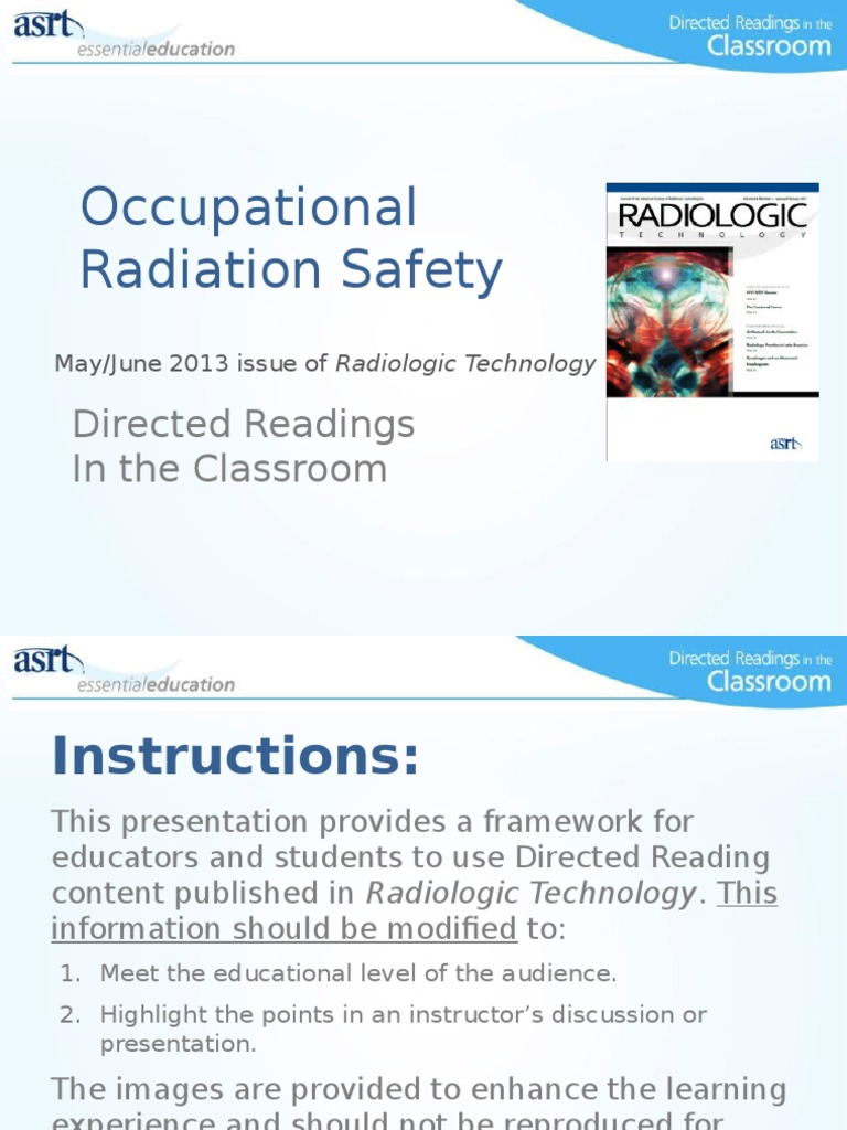 occupational radiation safety ionizing radiation dna rh es scribd com Worker Safety Occupational Safety and Health Administration