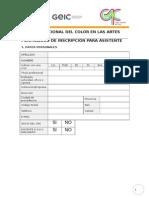 ColorenlasArtes2015 Inscripción ASISTENCIA.doc