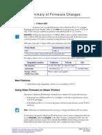 Firmware change information of Zebra S600 printer
