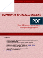 Matematicas Aplicada a Seguros