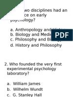 Psychology Quiz