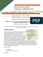 Effect of Ganoderma Lucidum on Human DNA