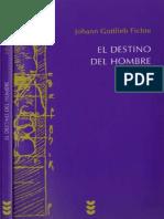 Fichte Johann - El Destino Del Hombre