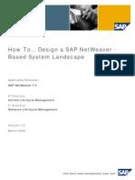 How to... Design a SAP NetWeaver -Based System Landscape