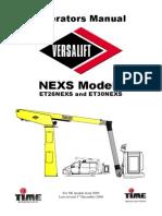 Versalift_LEXS Operators Manual 2009