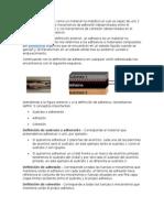 Definimos El Adhesivo