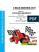 Virtual BAJA SAEINDIA 2015_Information_Docket