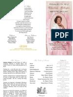 Charlene Gillespie Funeral Program