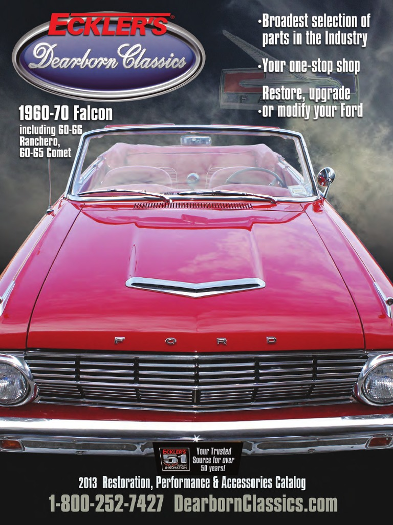 1960 To 1970 Ford Falcon Restoration Catalog Electrical Connector Radio Wiring Headlamp