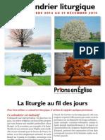 Calendrier Liturgique 2014-2015