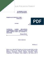 Maricalum Mining Corporation vs. NLRC, G.R. No. 124711, November 3, 1998, 298 SCRA 378