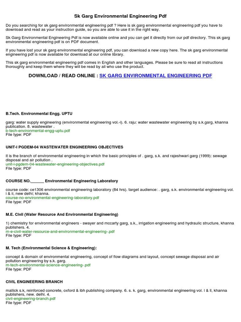 Engineering pdf science environmental