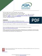 New Public Service (Denhardt & Denhardt)