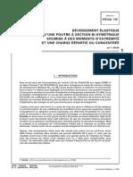 Deversement Elastique Construction Metallique