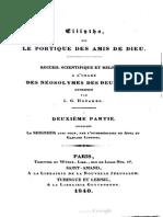 Abbé Guillaume OEGGER Adresse au Clergé de France, et traduction de Anna et Gaspard Lineweg, La Nouvelle Jérusalem Céleste ... Saint-Amand 1840