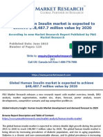 Global Human Insulin market is expected to achieve $48,487.7 million value by 2020