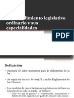 El Procedimiento Legislativo