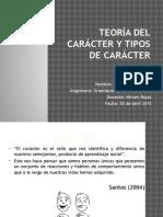 Teoría Del Carácter y Tipos de Caracter