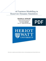Induced Fractures Modelling in Reservoir Dynamic Simulators