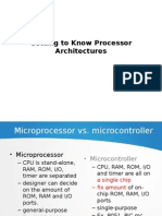 Getting to Know Processor Architectures