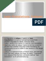 U5 U6 U7 Loan Translations. Calques.