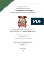 La Congestion Vehicular y El Mejoramiento Del Transito en La Ciudad de Juliaca (1)