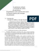 Definición de Patrimonio Cultural. Introducción. Concepto de Cultura y Concepción del Patrimonio