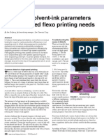 Solvent Ink Parameters Flexo Printing