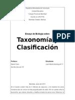 Ensayo de La Taxonomía